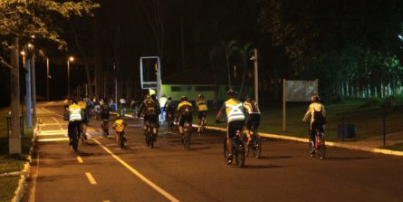 'Pedal da Família' é realizado no Parque do Sabiá aos sábados